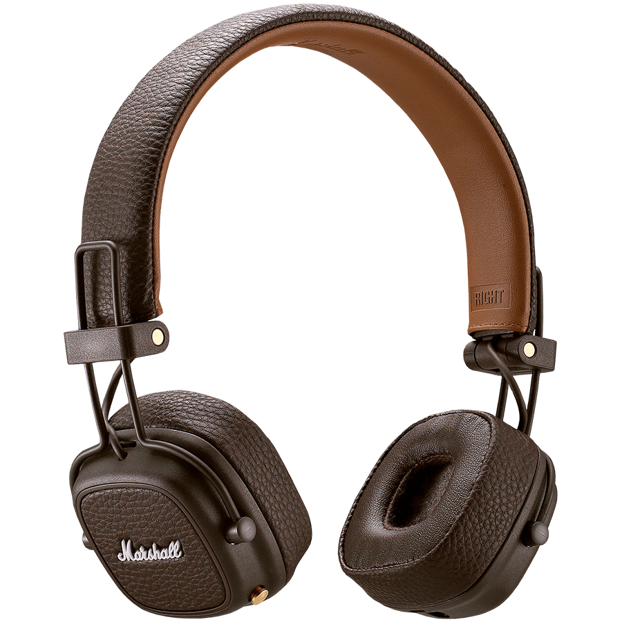 Wireless Bluetooth Headphones Marshall Major3 III Mic HIFI Noise Cancelling Bass (Brown)