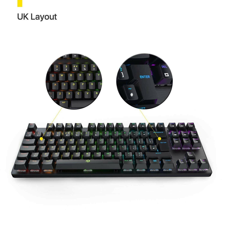 DREVO Tyrfing 88 Key V2 UK Layout RGB Backlit Mechanical Gaming Keyboard Tenk