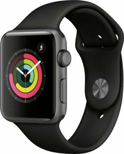 Apple Watch Series 3 GPS 42mm Space Gray Aluminum Case w/ Black Band MTF32LL/A